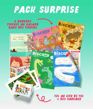 pack surprise 4 numéros au prix de trois
